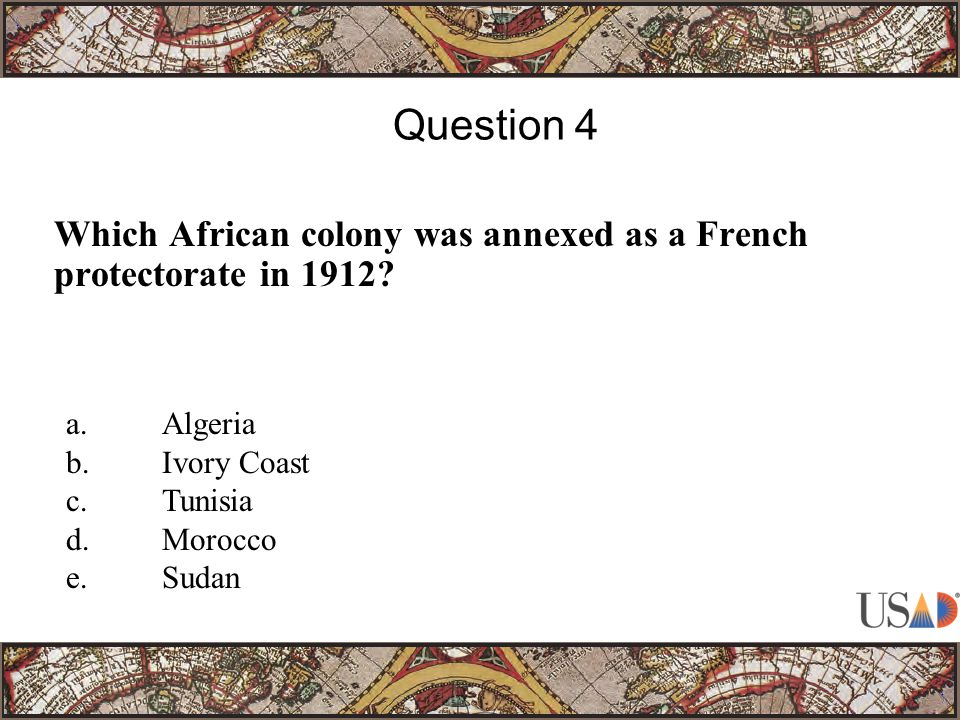Which African colony was annexed as a French protectorate in 1912.