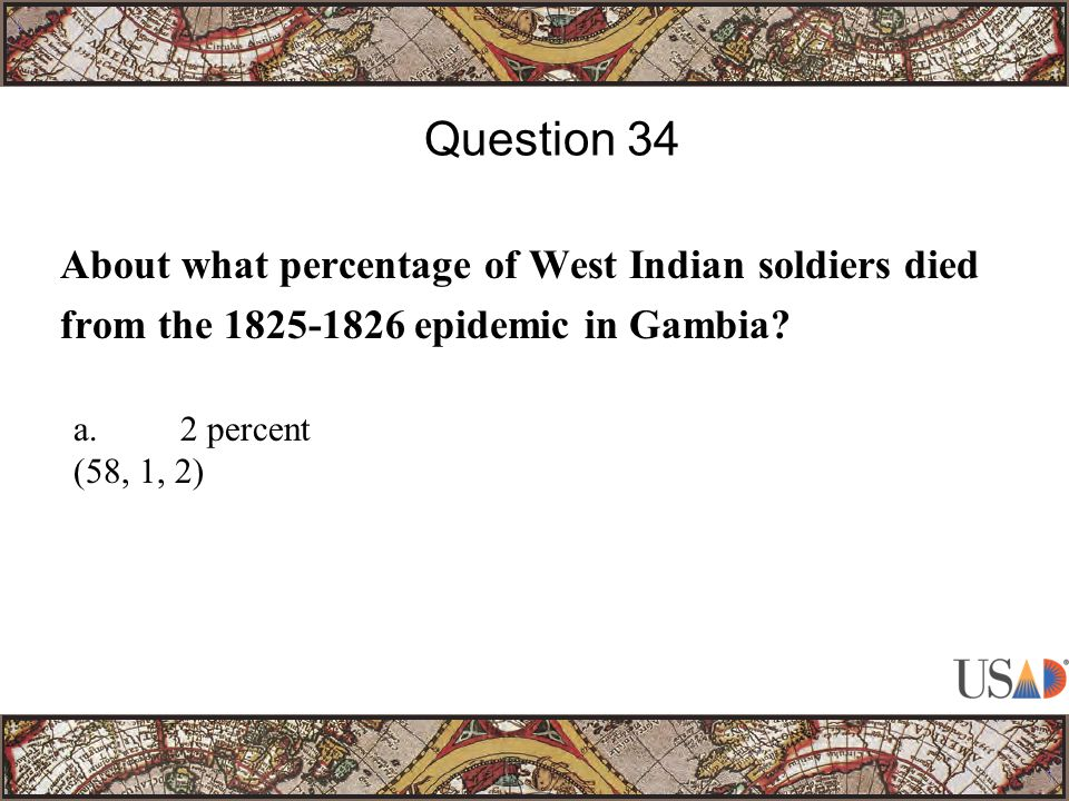 About what percentage of West Indian soldiers died from the epidemic in Gambia.