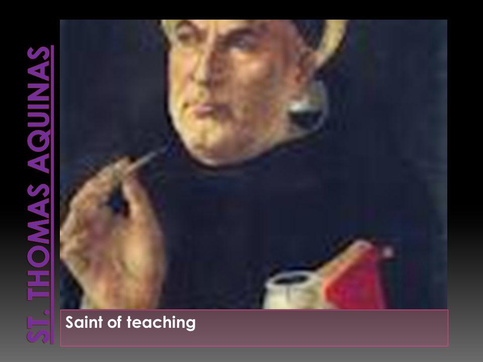 Saint of teaching