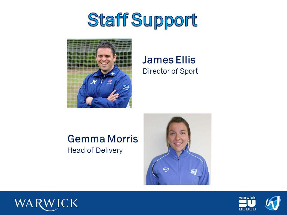 James Ellis Director of Sport Gemma Morris Head of Delivery