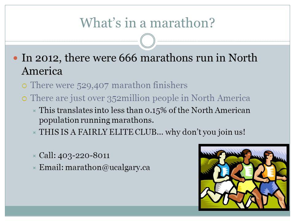 What's in a marathon.