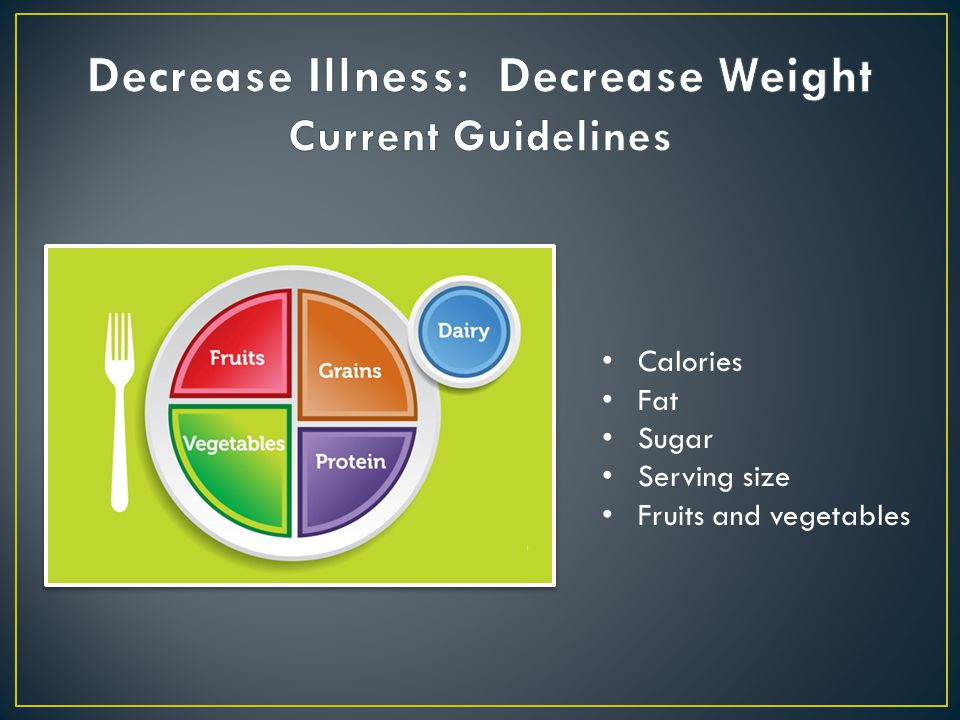 Calories Fat Sugar Serving size Fruits and vegetables