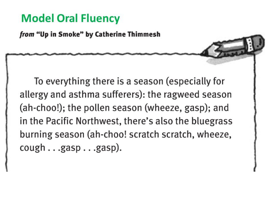 Model Oral Fluency
