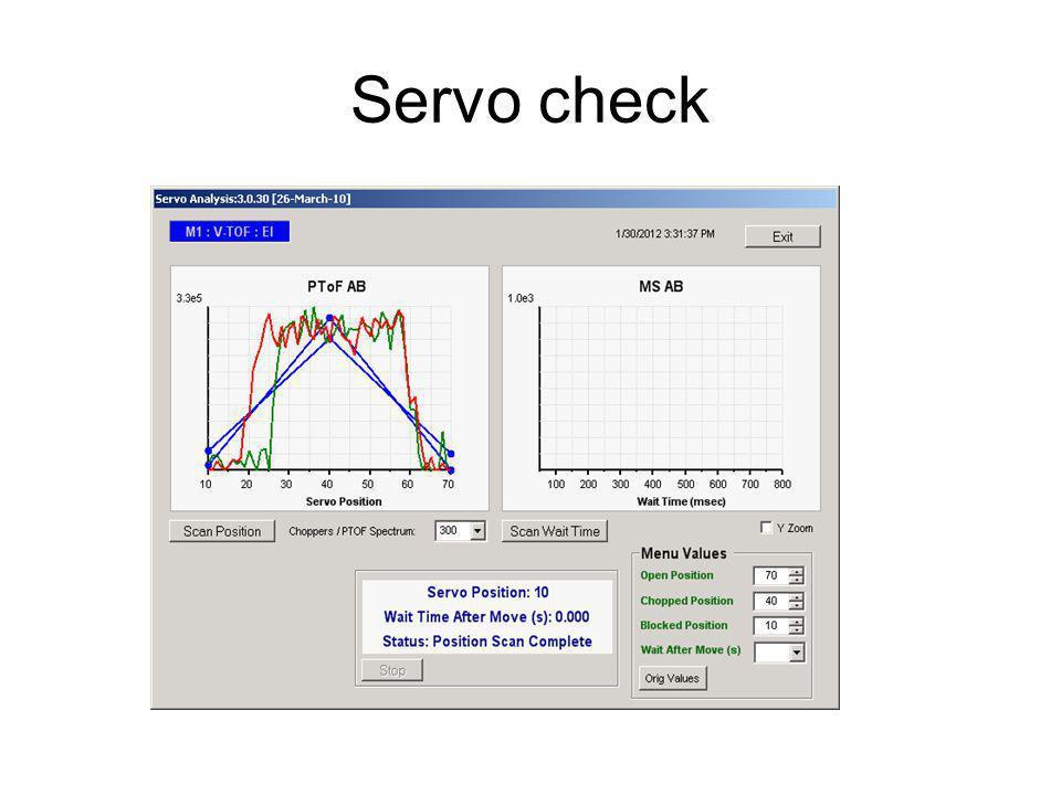 Servo check