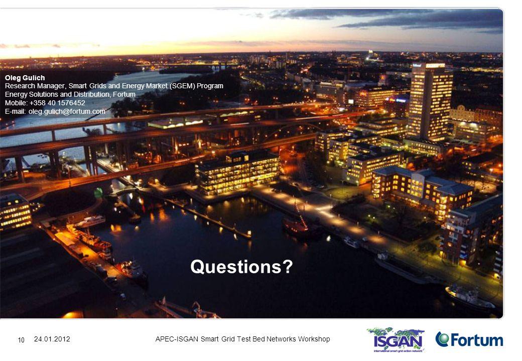 24.01.2012 10 Questions.