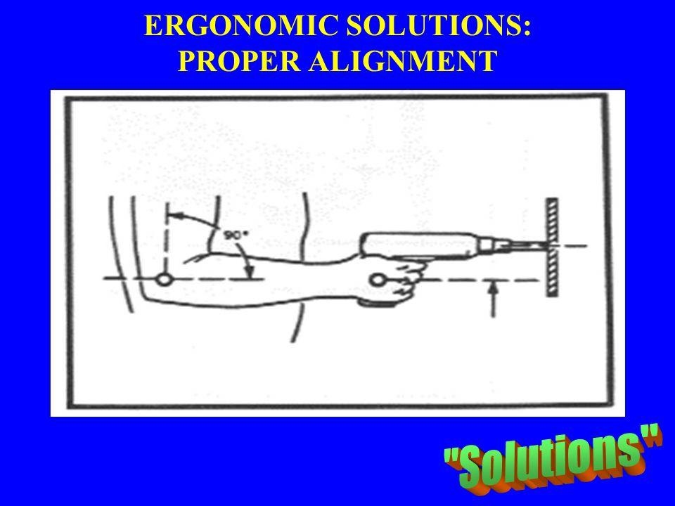 ERGONOMIC SOLUTIONS: PROPER ALIGNMENT