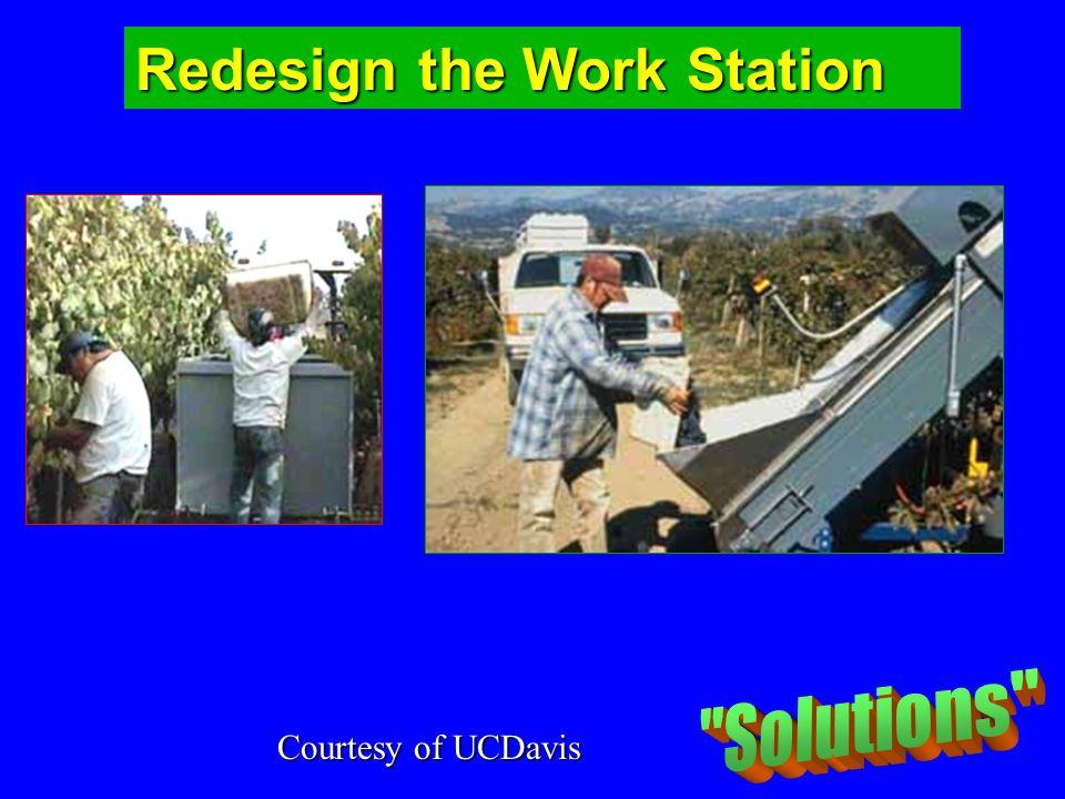 Redesign the Work Station Courtesy of UCDavis