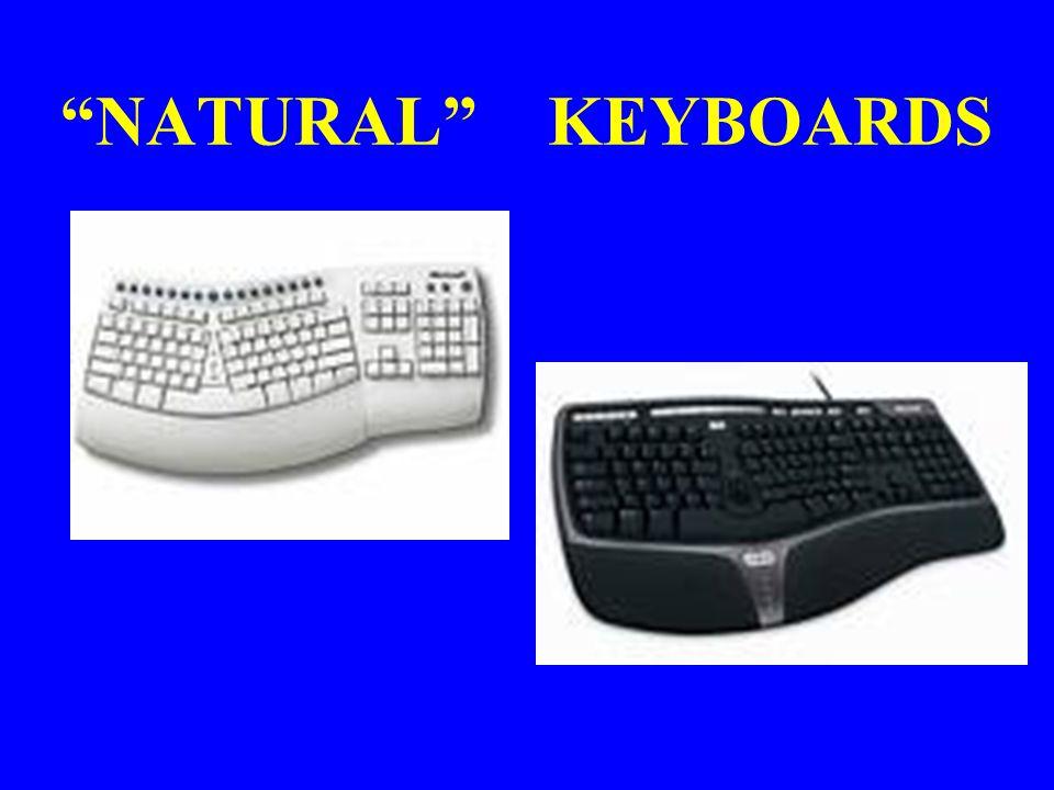 """""""NATURAL"""" KEYBOARDS"""