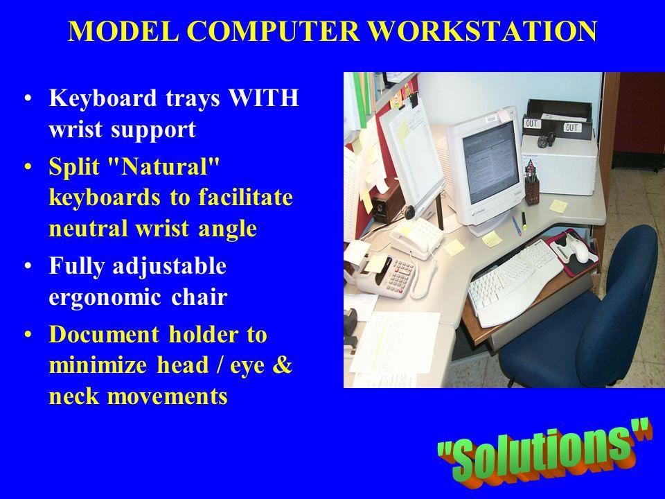 MODEL COMPUTER WORKSTATION Keyboard trays WITH wrist support Split