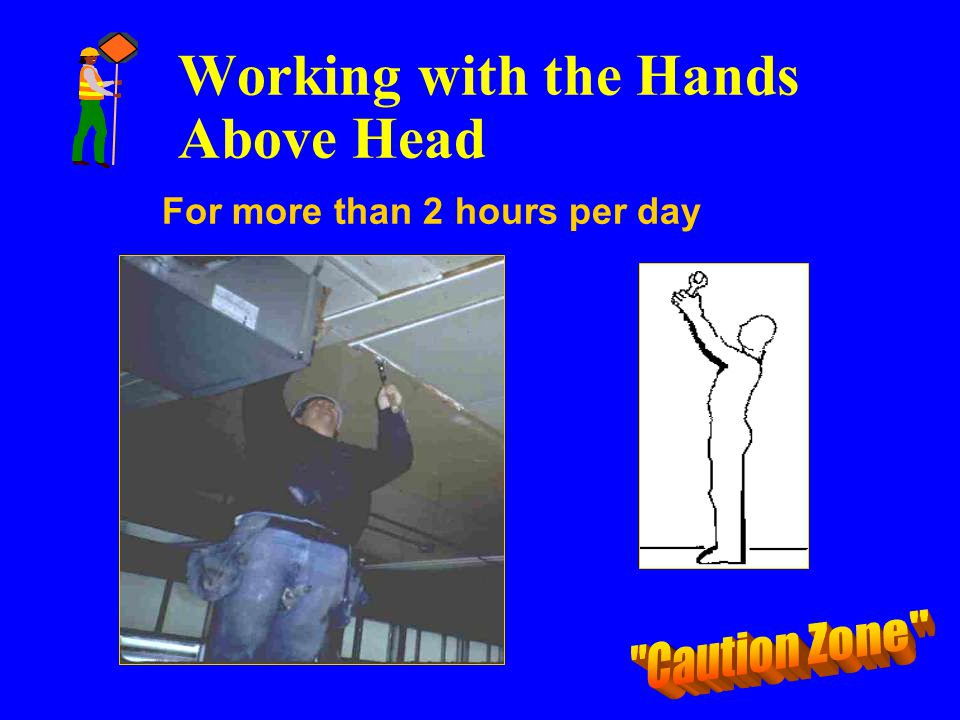 Working with the Hands Above Head For more than 2 hours per day