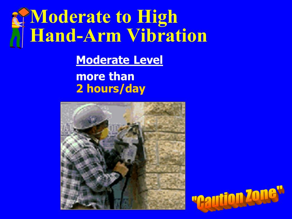 Moderate to High Hand-Arm Vibration Moderate Level more than 2 hours/day