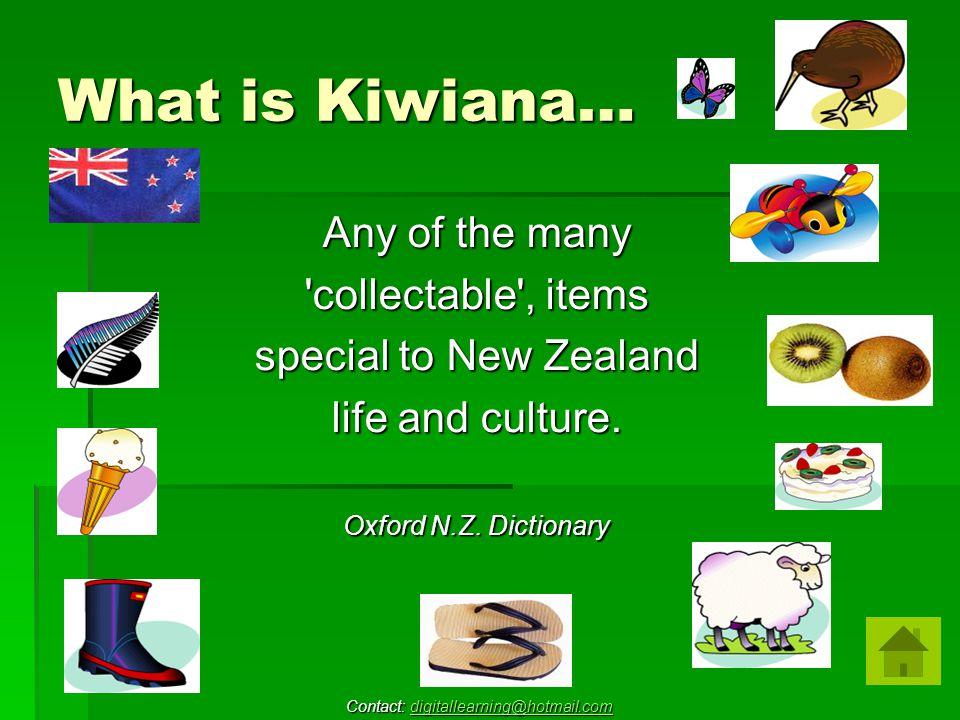 What is Kiwiana… Any of the many collectable , items special to New Zealand life and culture.