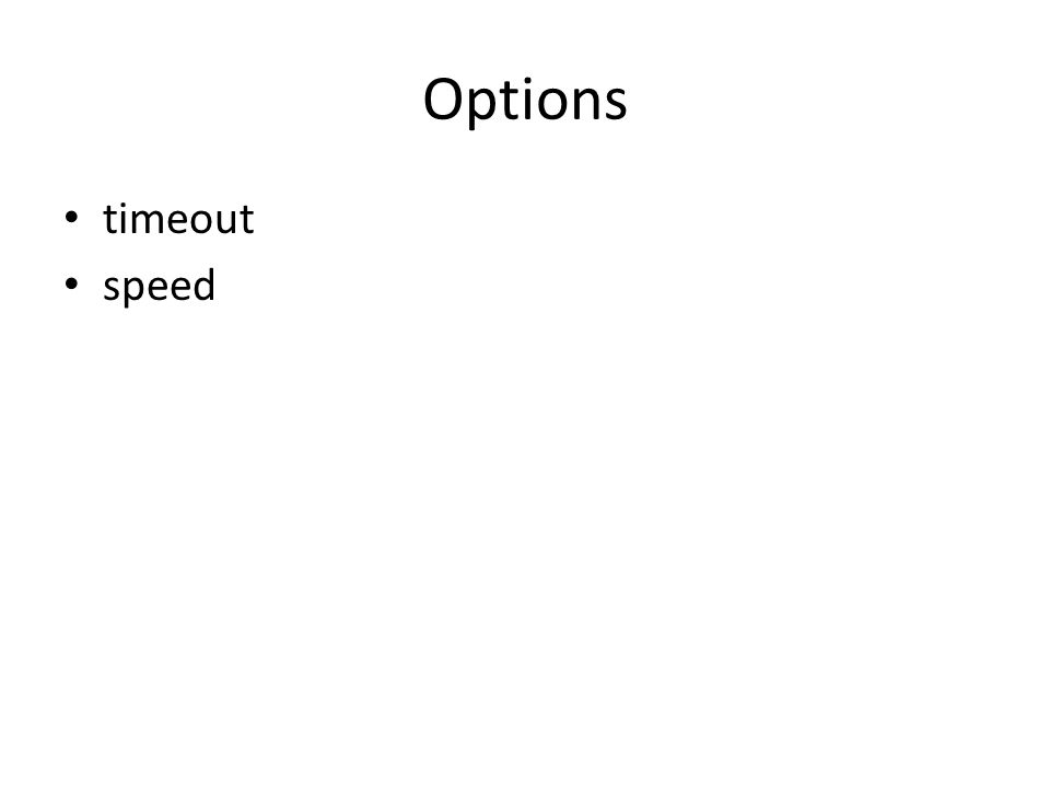 Options timeout speed