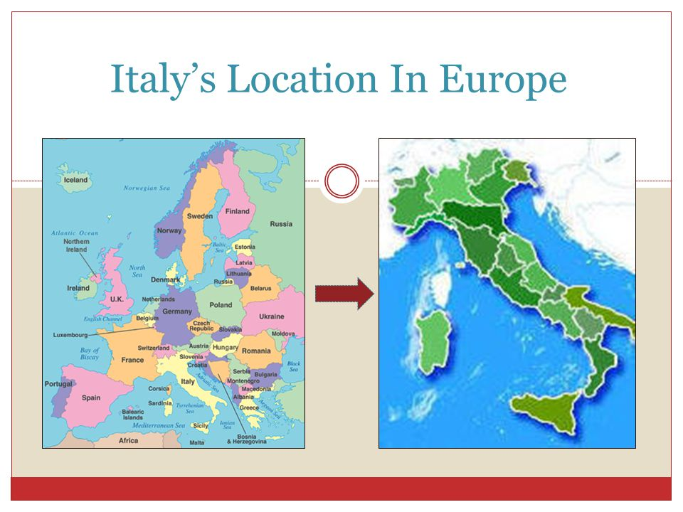 Italy's Location In Europe