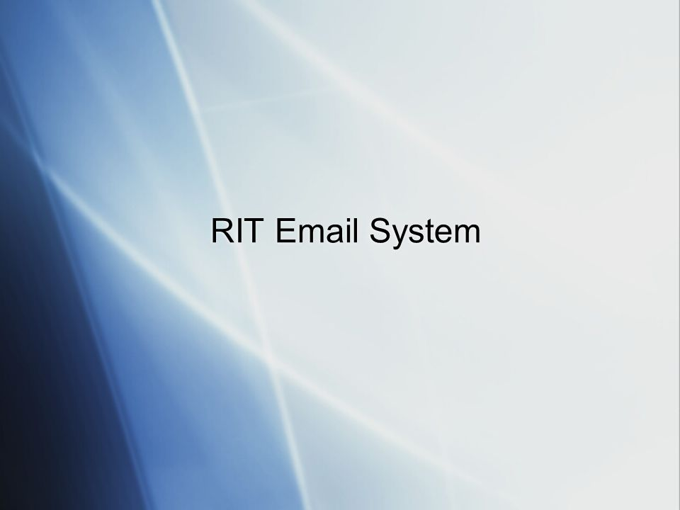 RIT Email System