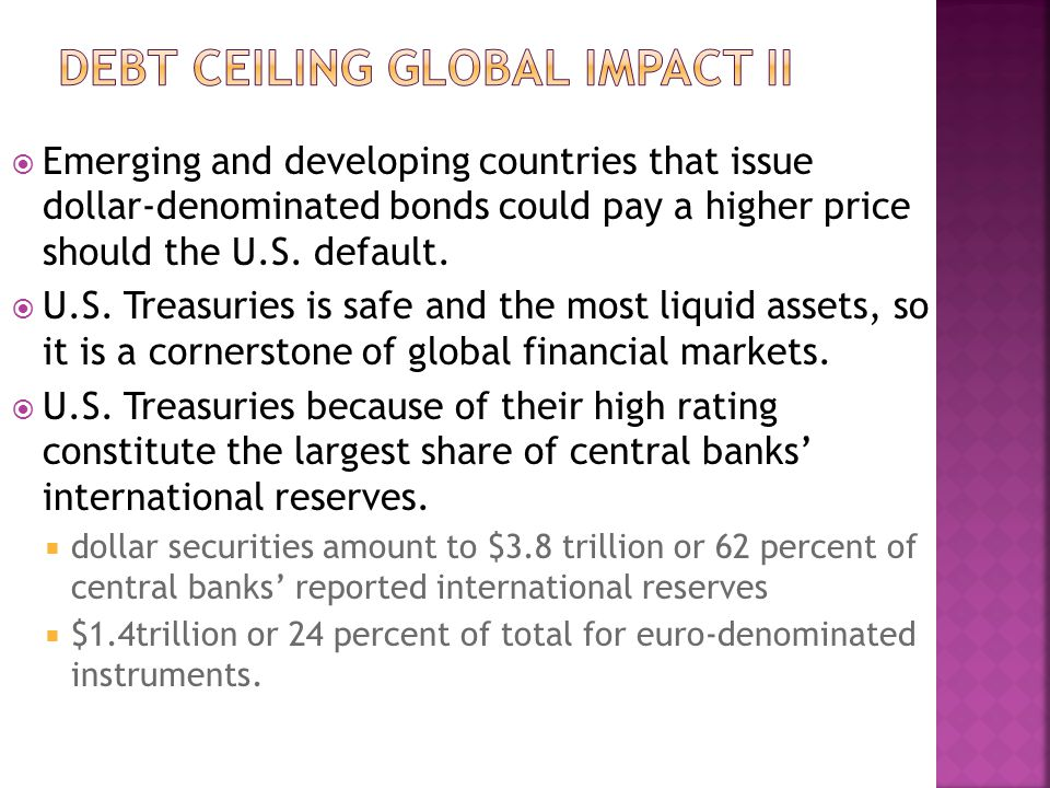  Emerging and developing countries that issue dollar-denominated bonds could pay a higher price should the U.S.