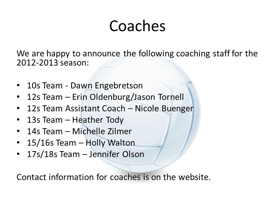 Parent Representatives NEW this year we will have at least one parent representative PER team.