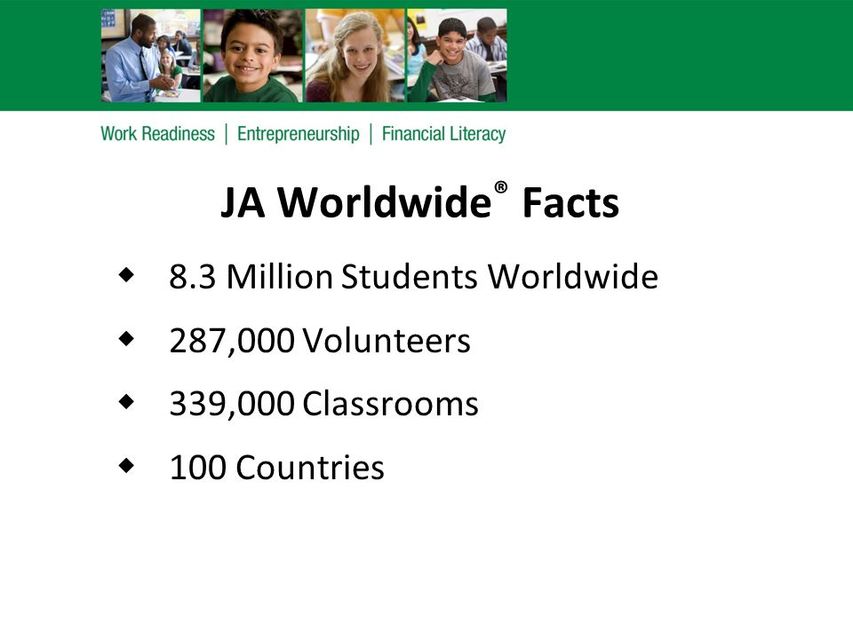JA of Northern Indiana (JANI) Facts  Local JA Merged with JANI in 2006  #1 in U.