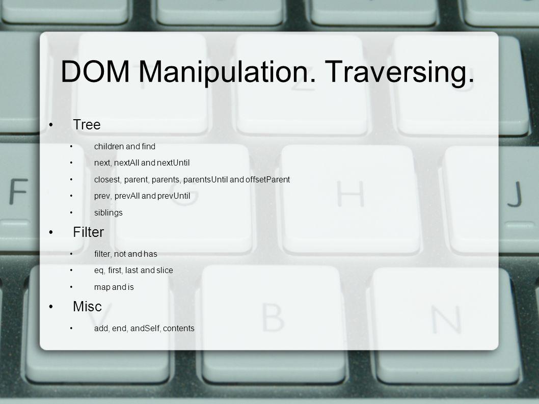 DOM Manipulation. Traversing.