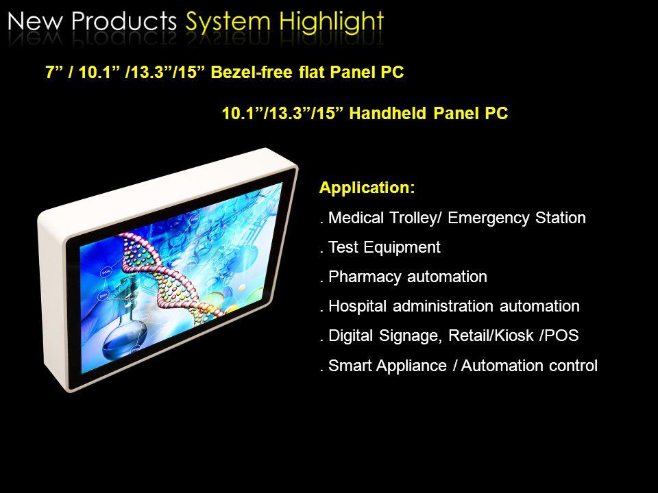 Model1U FANLESSHalf 1U FANLESSHalf 1U w/ FAN Dimensions mm440W x 360D x 44.3H440W x 218.8D x 44.3H442W x 214D x 44.5H M/B Q'ty1~2 Storage 1 x 3.5 HDD or 2.5 HDD Option Slim CD-RON / LCM / Extra USB, COM, PS2 KB&MS, GPIO, AUDIO, IEEE1394, PCI card, 3G, GPS, Bluetooth, WiFi, VGA Half 1U FANLESS with 2 pcs Mother board