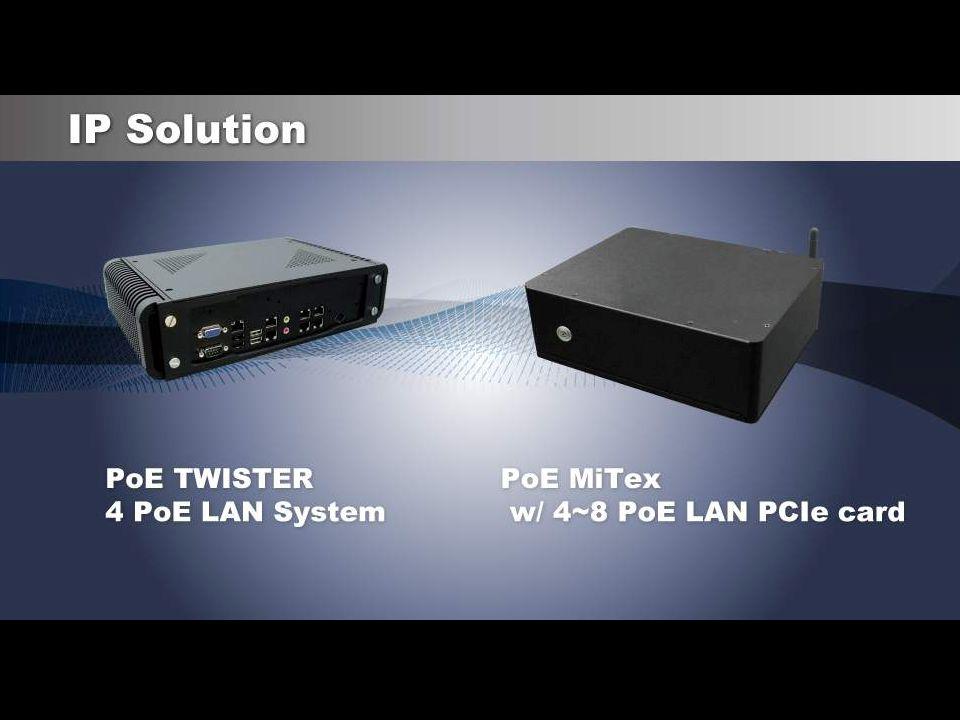 Processor ChipsetFeature Intel SoC E38XX DDR3L 1333Intel SoC Baytrail 3I380CW ( 2 x GbE, Car Power Control, USB, HDMI, LVDS & Touch screen, Wide Range DC-IN) Intel SoC E38XX DDR3L 1333Intel SoC Baytrail 2I380A ( 2 x GbE, USB 3.0, HDMI, LVDS & Touch Screen) Intel Cedarview-M DDR3 1066Intel Cedarview-M + ICH10 3I280A ( DVI or HDMI, 2~4 x USB, 2 x GbE) Intel IVY Bridge 1047UE / i3 / i7 DDR3 1333/1600 Intel Pather Point (PCH) HM76 3I847CW ( DVI & HDMI,2 x GbE, USB, Wide Range DCIN) CI847C ( DVI & HDMI, 4 x GbE, USB 3.0) Intel Atom D525 DDR3 800Intel Atom D525 + ICH8M 3I525CW (6 x COM, 2 x GbE, Wide range DC-IN) 3I525HW (All I/O as in PIN header, Wide range DC-IN) BI525CW (Rechargeable Battery, Wide range DC-IN) Intel IVY Bridge DDR3 1333 Intel QM77CI770C (HDMI, DVI/VGA, 6~10 x COM, 9 x USB ) Intel CedarView N2600 DDR3 800Intel CedarView-M + NM102I268C (1 x Realtek GbE, DVI, LVDS, Touch Screen,) VIA E-Series Nano DDR3 1066VIA VX9003V900C (HDMI, H.264 decode, 18/24 dual channel LVDS)