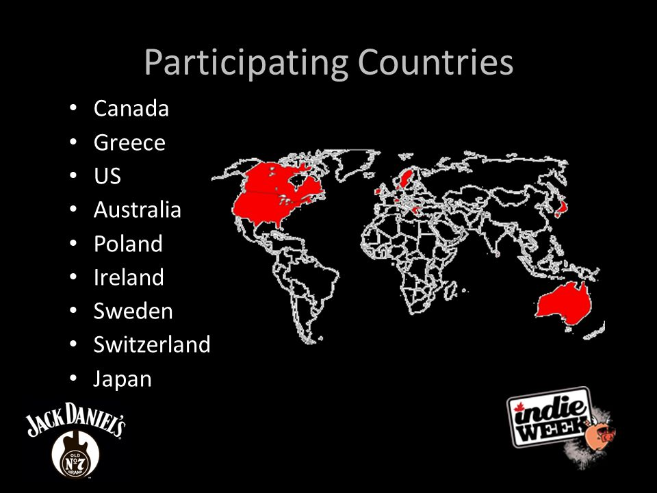Participating Countries Canada Greece US Australia Poland Ireland Sweden Switzerland Japan
