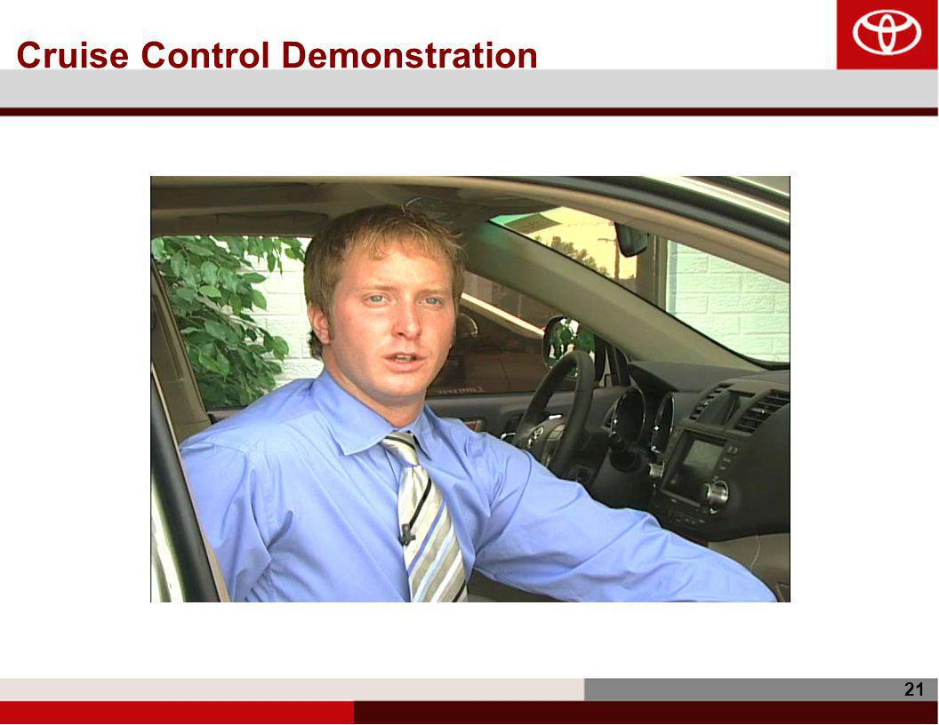 21 Cruise Control Demonstration