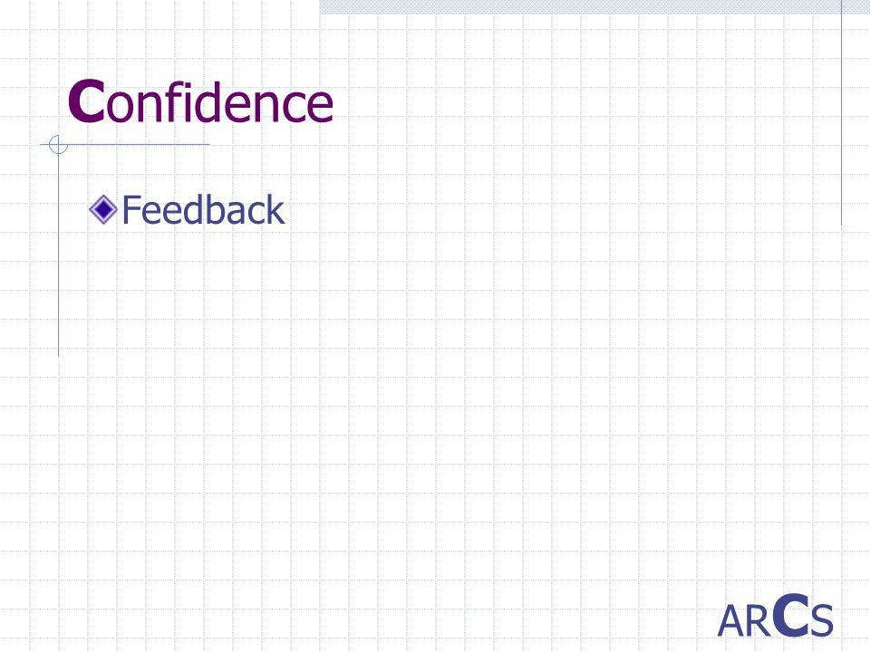 C onfidence Feedback AR C S