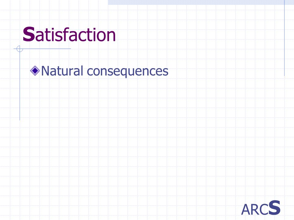 S atisfaction Natural consequences ARC S