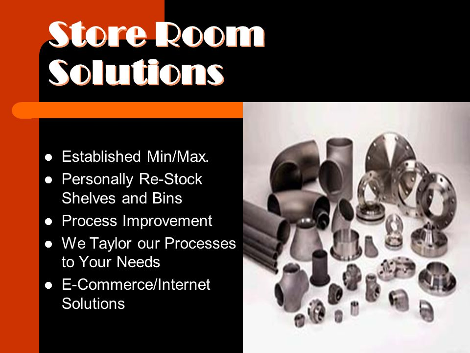 Store Room Solutions Established Min/Max.