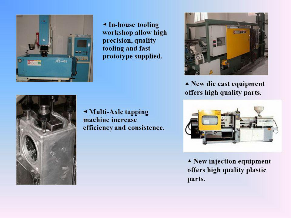 ◄ In-house tooling workshop allow high precision, quality tooling and fast prototype supplied.