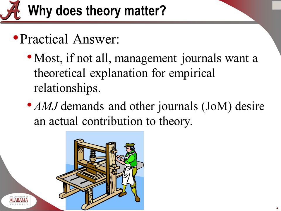 4 Why does theory matter.