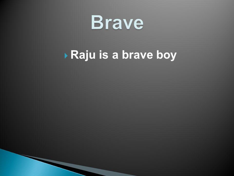  Raju is a brave boy