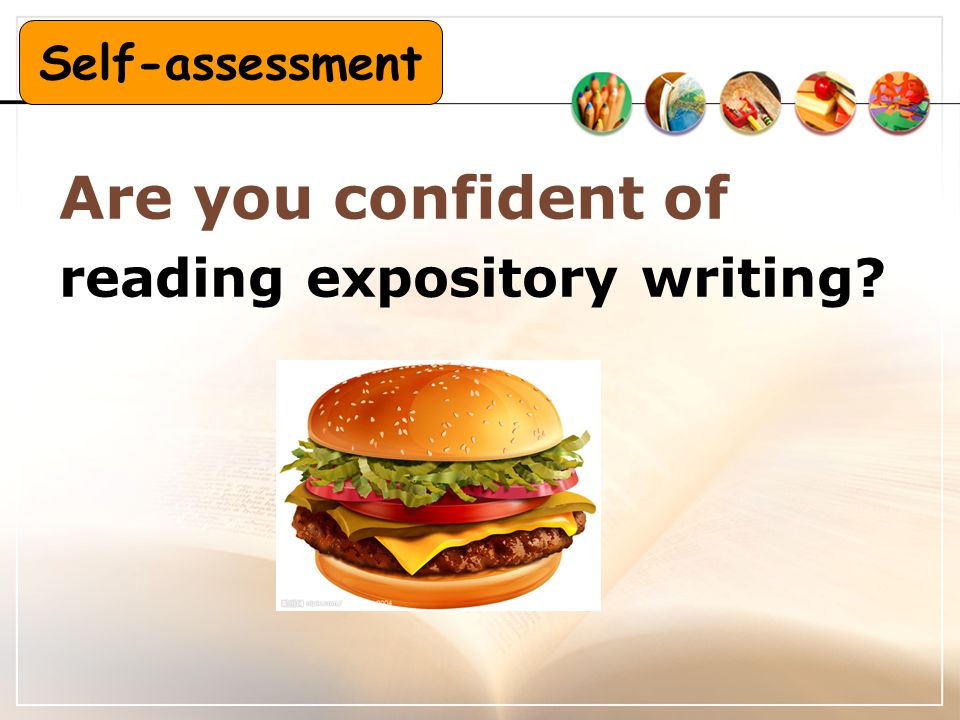 Are you confident of reading expository writing? Self-assessment