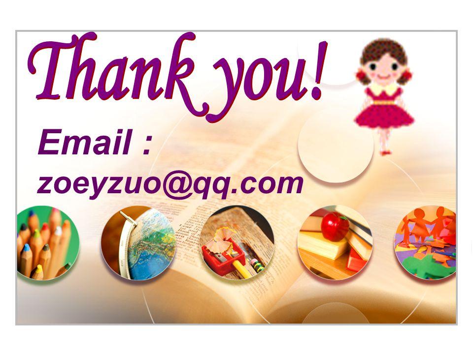 Email : zoeyzuo@qq.com