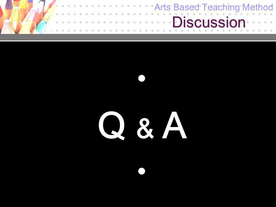 Discussion Q & A Arts Based Teaching Method