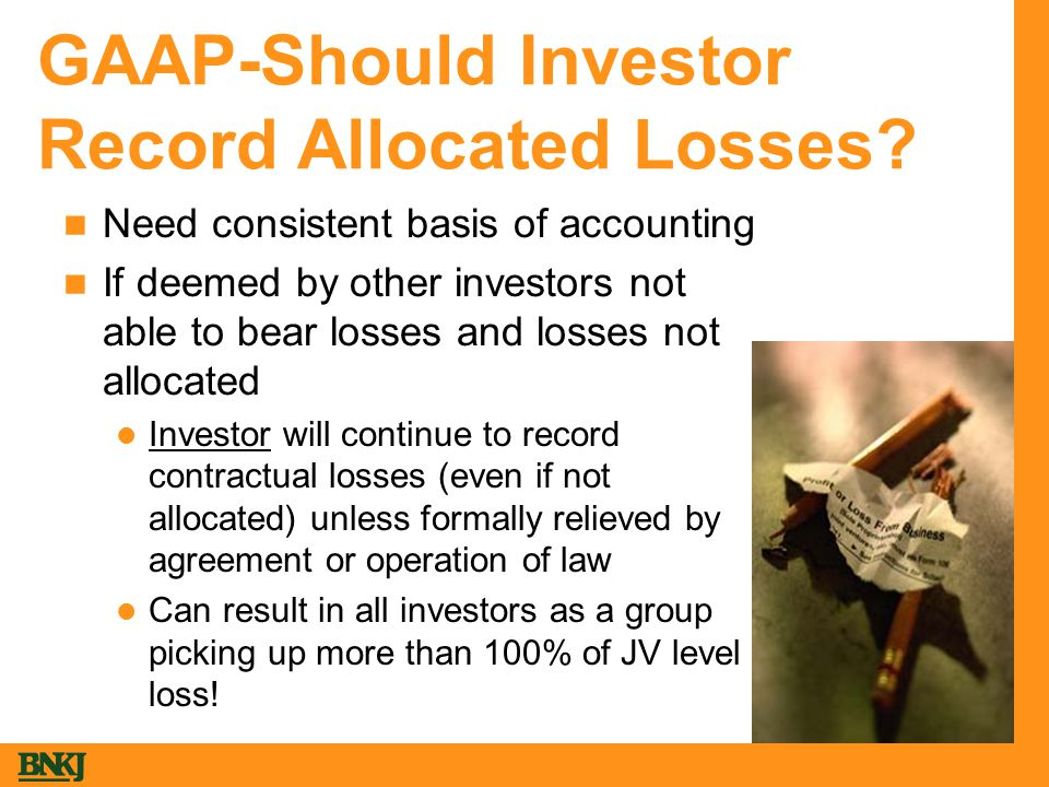 GAAP-Should Investor Record Allocated Losses.