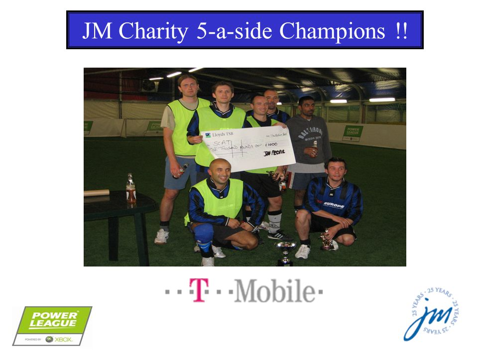 JM Charity 5-a-side Champions !!