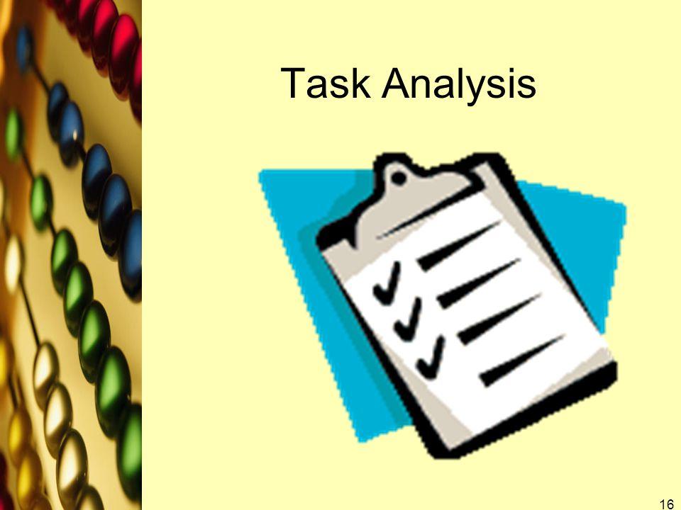Task Analysis 16