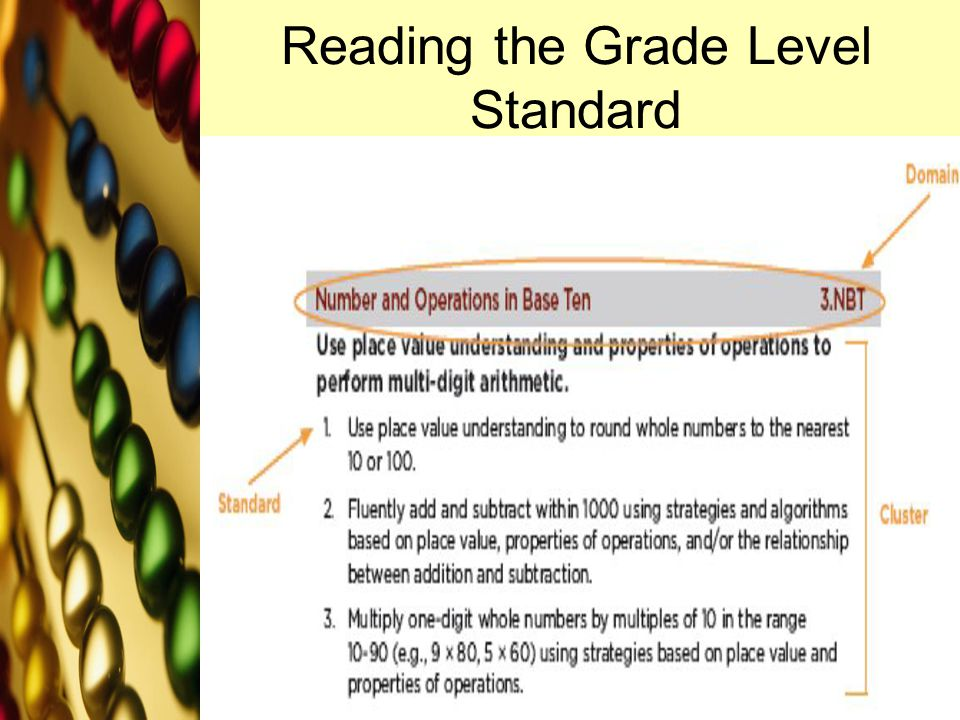 Reading the Grade Level Standard www.brainybetty.com3