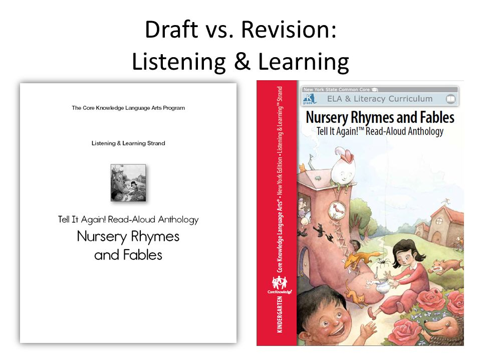 Draft vs. Revision: Listening & Learning