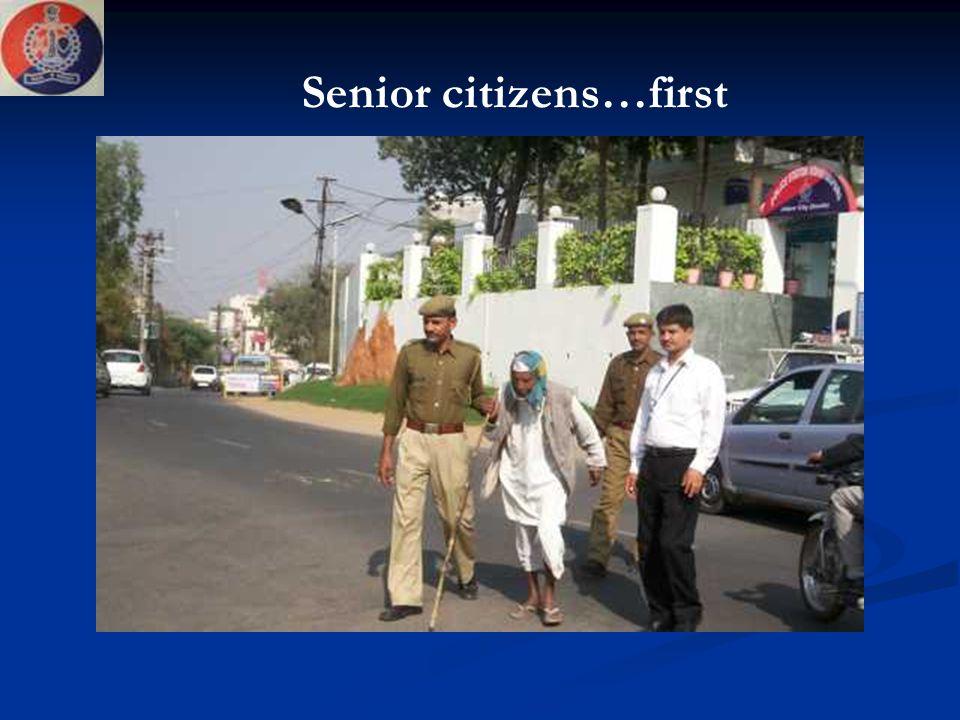 Senior citizens…first
