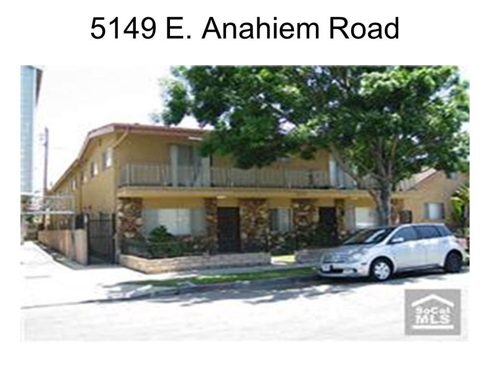 Recent Sale Information 5149 E. Anaheim Road