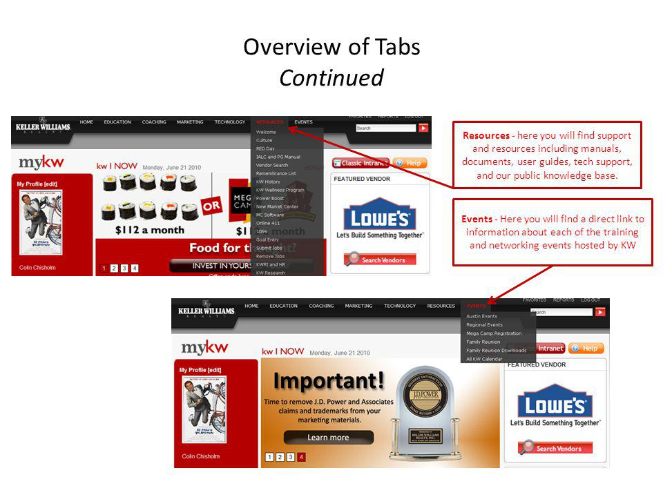Overview of Tabs Continued Resources - here you will find support and resources including manuals, documents, user guides, tech support, and our publi