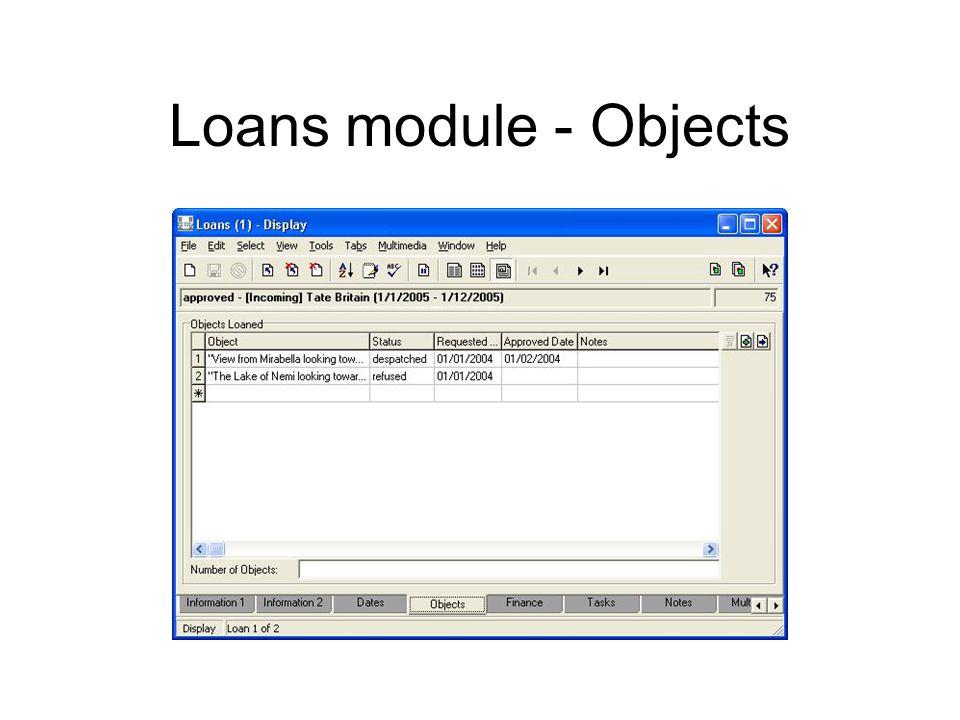 Loans module - Objects