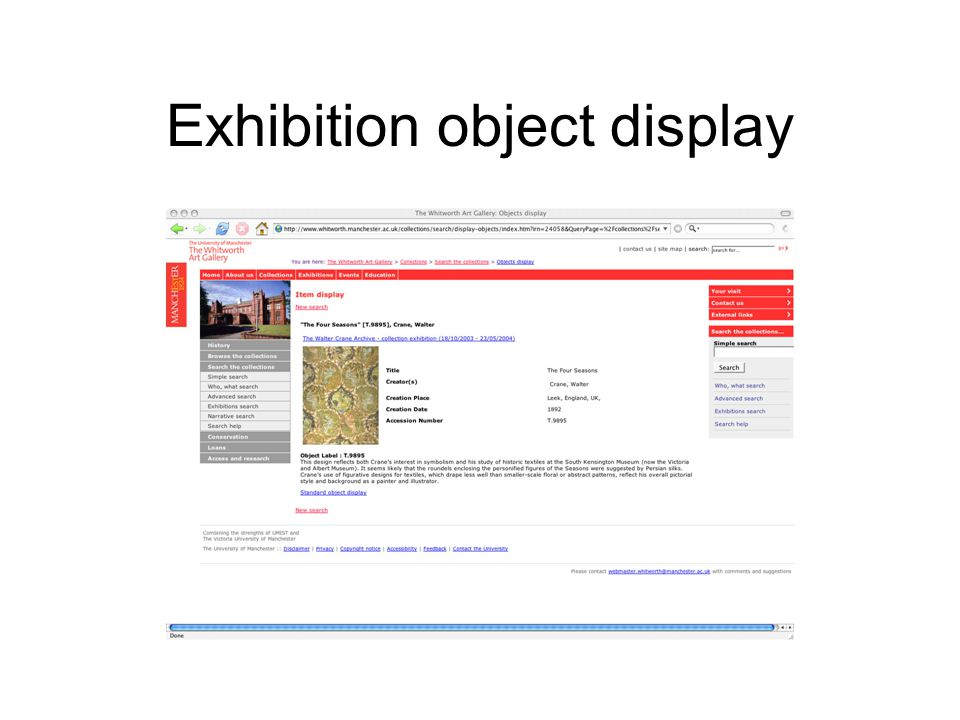 Exhibition object display