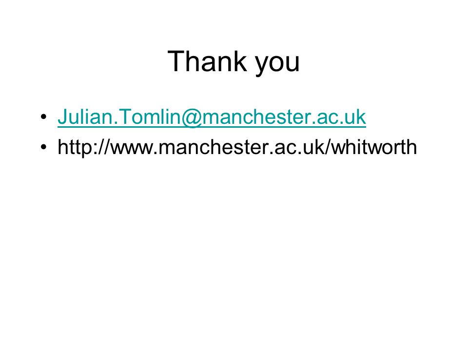 Thank you Julian.Tomlin@manchester.ac.uk http://www.manchester.ac.uk/whitworth