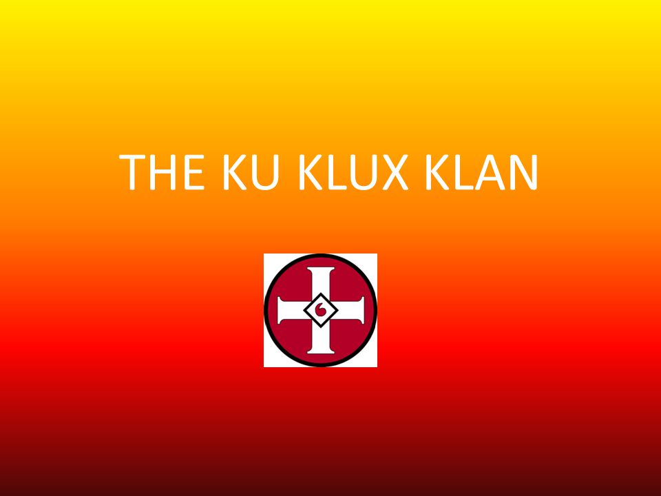 By 1868, two years after the Klan s creation, its activity was beginning to decrease.