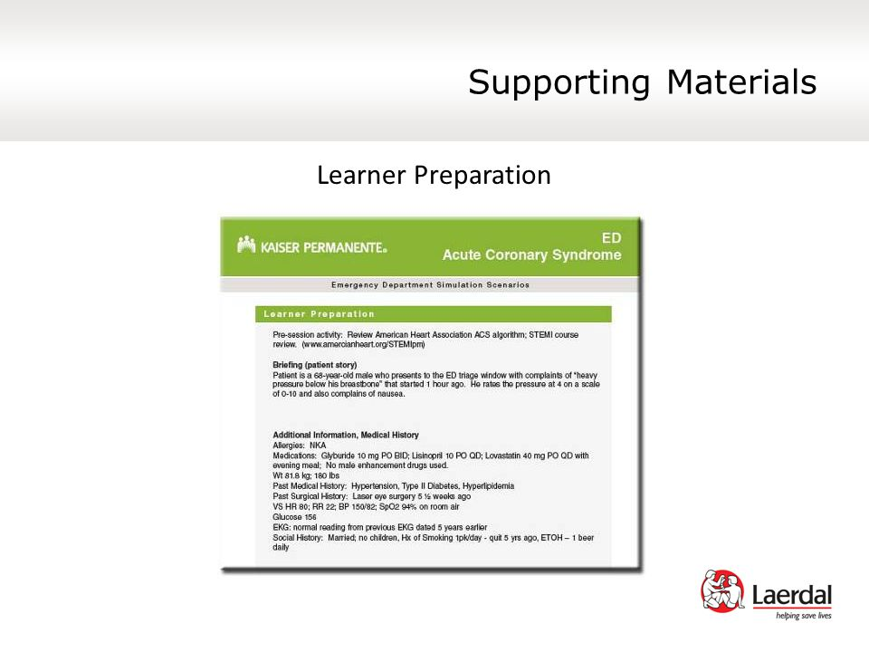 Supporting Materials Learner Preparation
