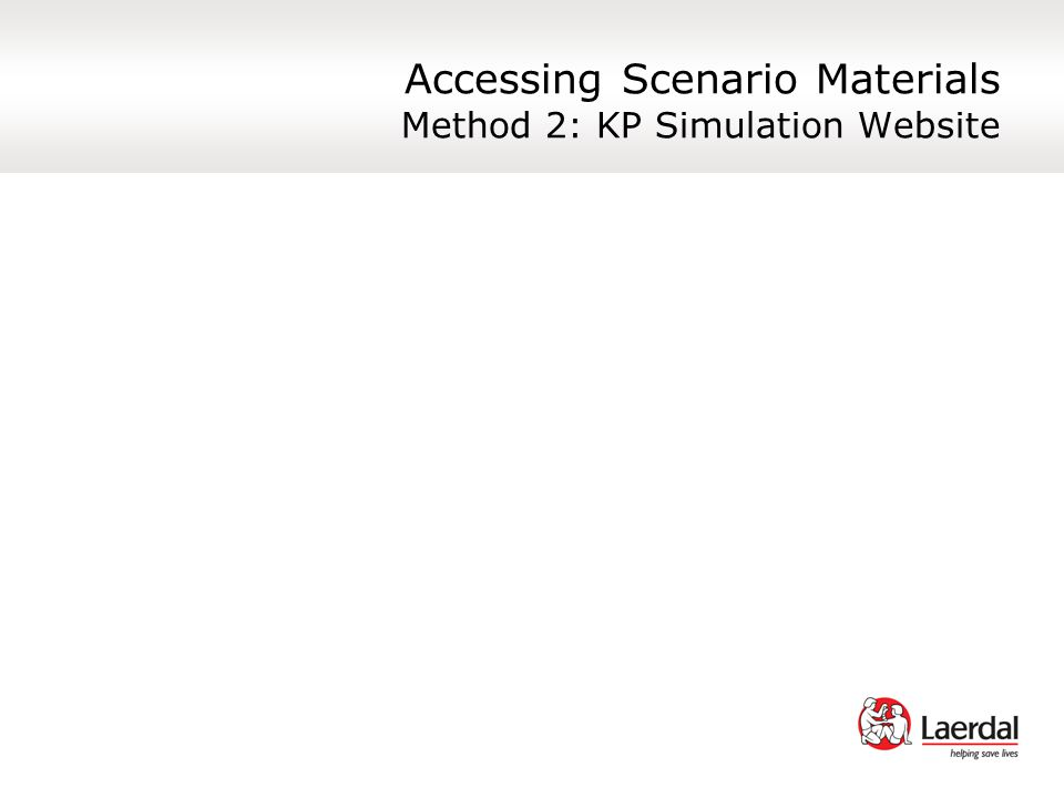 Accessing Scenario Materials Method 2: KP Simulation Website